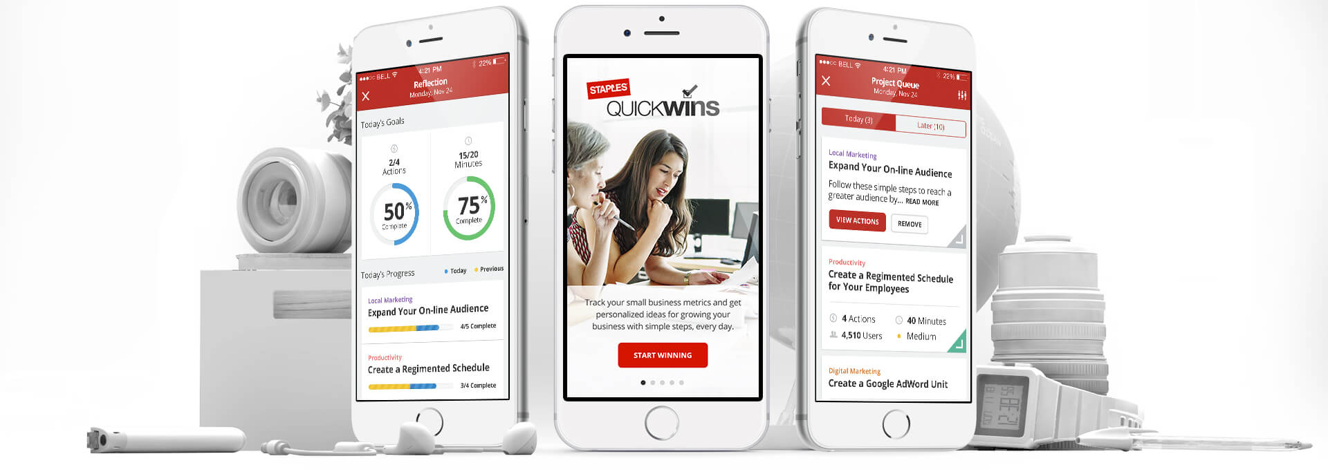 Staples Quick Wins App Home