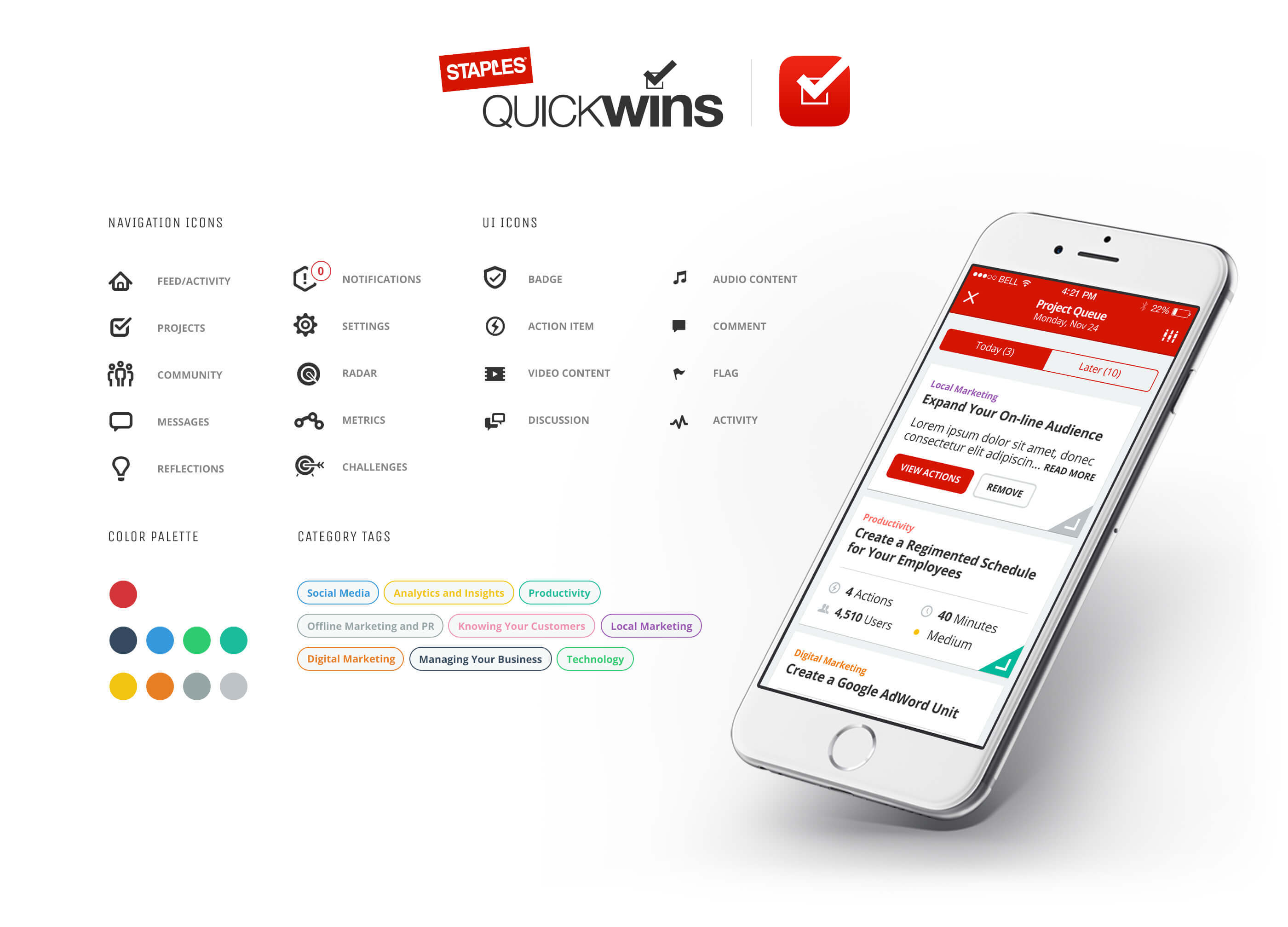 Staples Quick Wins App Styleguide